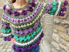 Tejido de crochet primaveral