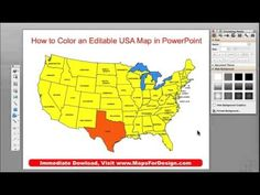 How To Make A PowerPoint USA Sales Territory Map From - Powerpoint us map