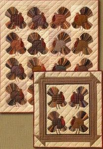 Turkey Time  Number 12 Thanksgiving Fall Autumn The City Stitcher Quilt Pattern. $6.95, via Etsy.