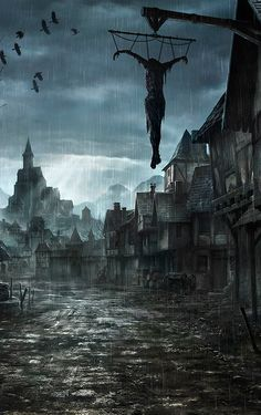 by jonas dero. especially like the perspective on the flooded street (canal?).