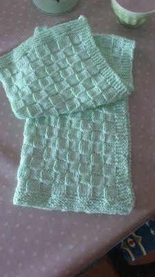 Kreaman: DIY håndklæde i tern Knit Dishcloth, Knit Crochet, Homemade, Knitting, Diy, Fashion, Tricot, Velvet, Tutorials