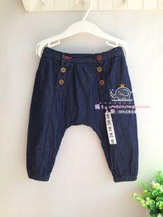 nuevos niños 2014 pantalones del bebé del otoño del resorte pantalones vaqueros del bebé casuales pantalones de mezclilla niños pantalones harén niños unisex Jeans-inPants de Ropa y accesorios en Aliexpress.com | Grupo Alibaba