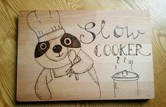 Check out this item in my Etsy shop https://www.etsy.com/uk/listing/539645935/sloth-chopping-board