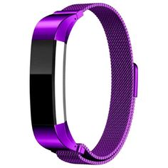 Fitbit Alta Replacement Band, Lookatool Milanese Magnetic Loop Stainless Steel Band For Fitbit Alta Smart Watch (Purple) >>> Click on the image for additional details. (This is an affiliate link and I receive a commission for the sales)
