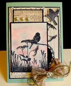 SC439 ~ Summer Field by DJRants ~ Cards and Paper Crafts at Splitcoaststampers