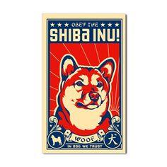 Obey the SHIBA INU! Propaganda Decal