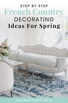 Fall in love with these French country spring decorating ideas! #frenchcountry #frenchcountrydecor #modernfrenchstyle #flowers #pinkflowers #springdecorating #sff225 #modernfrenchcountry