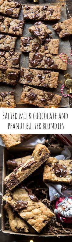 Salted Milk Chocolate and Peanut Butter Blondies