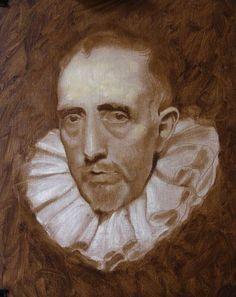 raw umber underpainting, old master painting demonstration, how to paint like the old masters, free art lesson