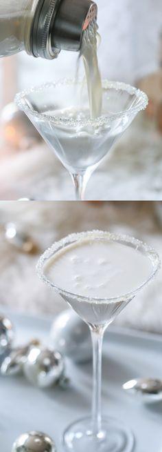 White Christmas Martini - holiday cocktail recipe