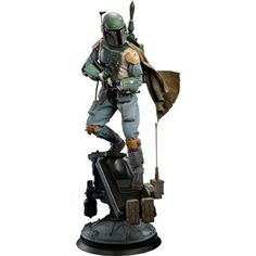 Star Wars Boba Fett Premium Format(TM) Figure by Sideshow Co Minions Star Wars, Regalos Star Wars, Sideshow Statues, Star Wars Models, Star Wars Merchandise, Star Wars Tattoo, Star War 3, Star Wars Boba Fett, Star Wars Gifts