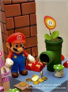 DSC_1039 Super Mario Bros, Super Mario Party, Bolo Super Mario, Super Mario Birthday, Mario Birthday Party, Super Mario Brothers, 6th Birthday Parties, Mario Und Luigi, Mario Bros.