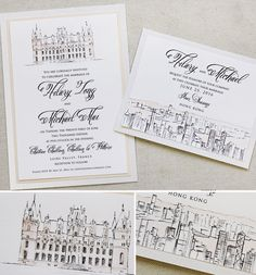 Cynthia N. – Castle Wedding Invitations Classy and chic, pen and ink sketches with a touch of blush for these stationery pieces. Letterpress Wedding Stationery, Wedding Stationary, Calligraphy Invitations, Rustic Wedding Signs, Wedding Ideas, Wedding Venues, Classy Wedding Invitations, Ireland Wedding, Illustrations