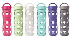 Glass water bottles with silicone sleeves!  Cute AND smart!