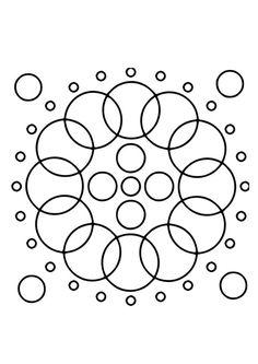 Kleurplaat mandala 17