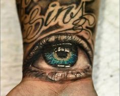 Realistic Eye On Wrist Color Tattoo Dope Tattoos, Funny Tattoos, Body Art Tattoos, Small Tattoos, Tattoos For Guys, Sleeve Tattoos, Awesome Tattoos, Incredible Tattoos, Tatoos