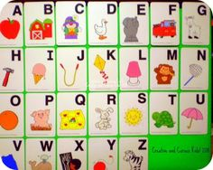 Creative and Curious Kids!: The Toddler Times: Edition- Alphabet Board Kids Learning Alphabet, Learning Letters, Teaching Kids, Alphabet Activities, Activities For Kids, Alphabet Board, Curious Kids, Teaching Language Arts, Teaching English