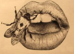 wooo for pointilism. been a while Iv used this technique, kind of miss its patience tempting ways Lana Del Rey Lips, Lana Del Rey Tattoos, Dotted Drawings, Art Drawings, Art Sketches, Mano Brown, Stippling Art, Tattoo Illustration, Body Art Tattoos