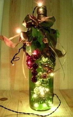 Do Make Wine Bottle Lights | Hand Decorated Wine Bottle with Rice Mini Lights Night Light