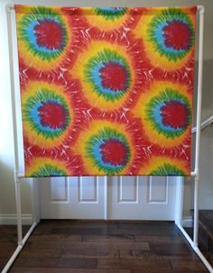 Tie Dyed PHOTO BOOTH, Backdrop & Stand, Hippie Party, 60's Party, Wedding Photo Booth, Lowers for Kids, Photography Background