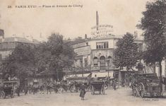 La place de Clichy vers 1900.
