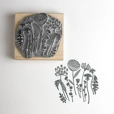 """Flower Silhouette Stamp"" https://sumally.com/p/573302"