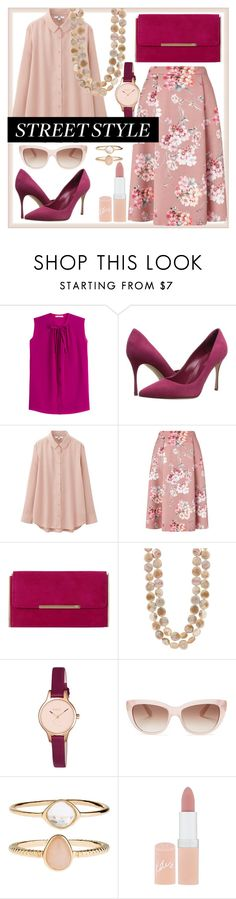 """""""Untitled #164"""" by monykhaled ❤ liked on Polyvore featuring Etro, Sergio Rossi, Uniqlo, Miss Selfridge, Dune, Radley, Kate Spade, Accessorize and Rimmel"""