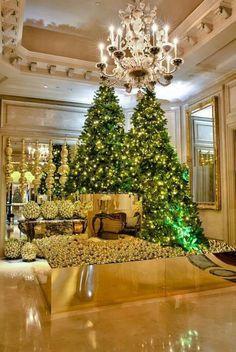 Four Seasons Paris Christmas trees