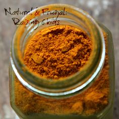 Turmeric: Amazing spice for Health, Cooking and Beyond blog post on the great uses, recipes & ideas of using Turmeric. Natural & Frugal: Raising 6 kids