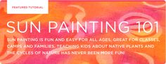 Sun Painting 101 with Setacolor Fabric Paints- create one of a kind fabric and garments with this easy technique