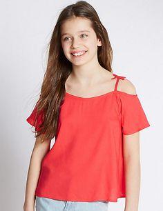 Short Sleeve Bardot Top (5-14 Years)