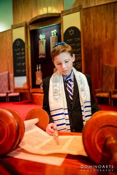 Reading #Torah Book! Bar #Mitzvah #portrait by #DominoArts #Photography (www.DominoArts.com)