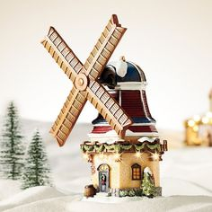 St. Nicholas Square® Village Windmill with Motion, Multicolor