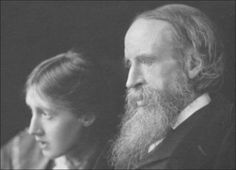 Virginia Woolf and her father, Leslie Stephen, photographed by George Charles Beresford, 1902.