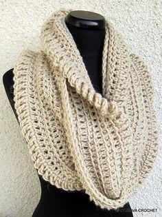 Ravelry: Crochet Circle Infinity Scarf Unique Design pattern by Lyubava Crochet