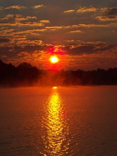 Sunrise Over Douglas Lake, TN