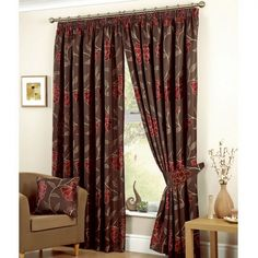 Adding Curtains: The Way to Make Your Home Look Beautiful : Red And Brown Curtains