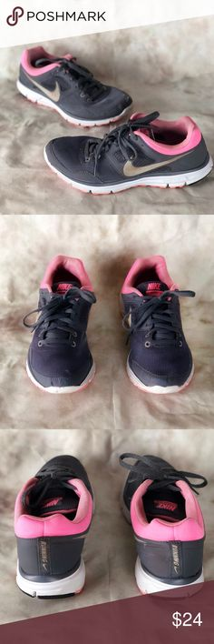 38e2966b9680 Nike Lunarfly Women s Running Sneaker Women s size Pre owned but in great  condition. Grey outer with pink accents. Shoe shows minor wear on swoosh and  on ...