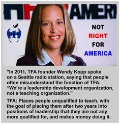 Real kids deserve real career professionals as teachers, not TFA resume padders. #NoTFA @BadassTeachersA #TBATs