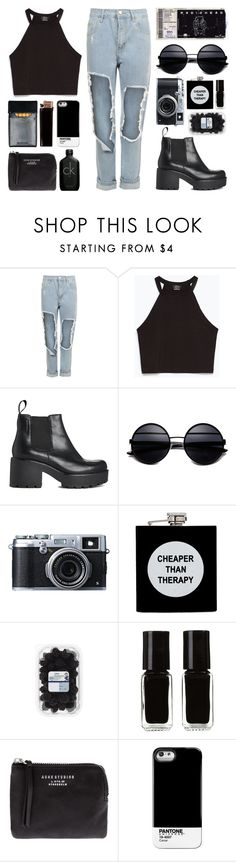 """""""what the hell am I doing here?"""" by arditach ❤ liked on Polyvore featuring WearAll, Zara, Vagabond, ASOS, The New Black, GAS Jeans, Acne Studios, Calvin Klein, women's clothing and women"""