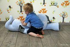 Sitzkissen Sitzsack Emilio Elefant ebook von MonstaBella auf DaWanda.com
