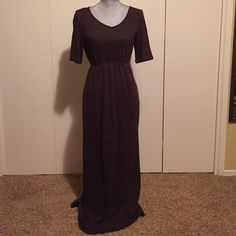 Knit Maxi Dress Brown/black light knit max dress. Should probably be worn with a slip (slip not included). Espresso Dresses Maxi