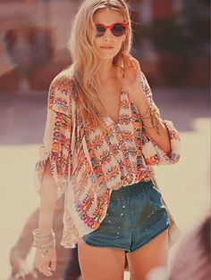 Free People FP ONE Floral Invasion Buttondown