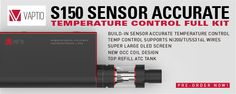 Vaptio S150 ATC - The only device to directly control the vapor temperature