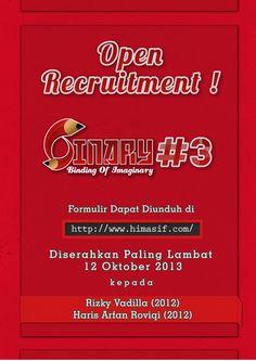 Open Recruitment Binary #3 More info himasif.com