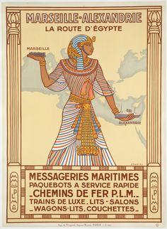 Vintage Travel Posters - 'Marseille-Alexandrie La Route D'Egypte', 1927
