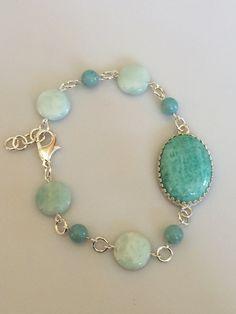 Turquoise Amazonite Cabochon Bracelet with Amazonite by Rock2Gems