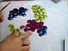 Uvas - Grapes - Pintura em Tecido - YouTube