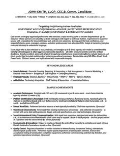 a professional resume template for an investment advisor want it download it now