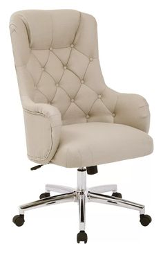 A must-have for your home office, this Ave Six desk chair combines the upholstered elegance of your favorite accent chair with the functional use of an office chair. Upholstered Desk Chair, Desk Chair Comfy, Bedroom Chair, Diy Chair, Chair Cushions, Swivel Chair, Chair Upholstery, Upholstering Chairs, Oak Bedroom